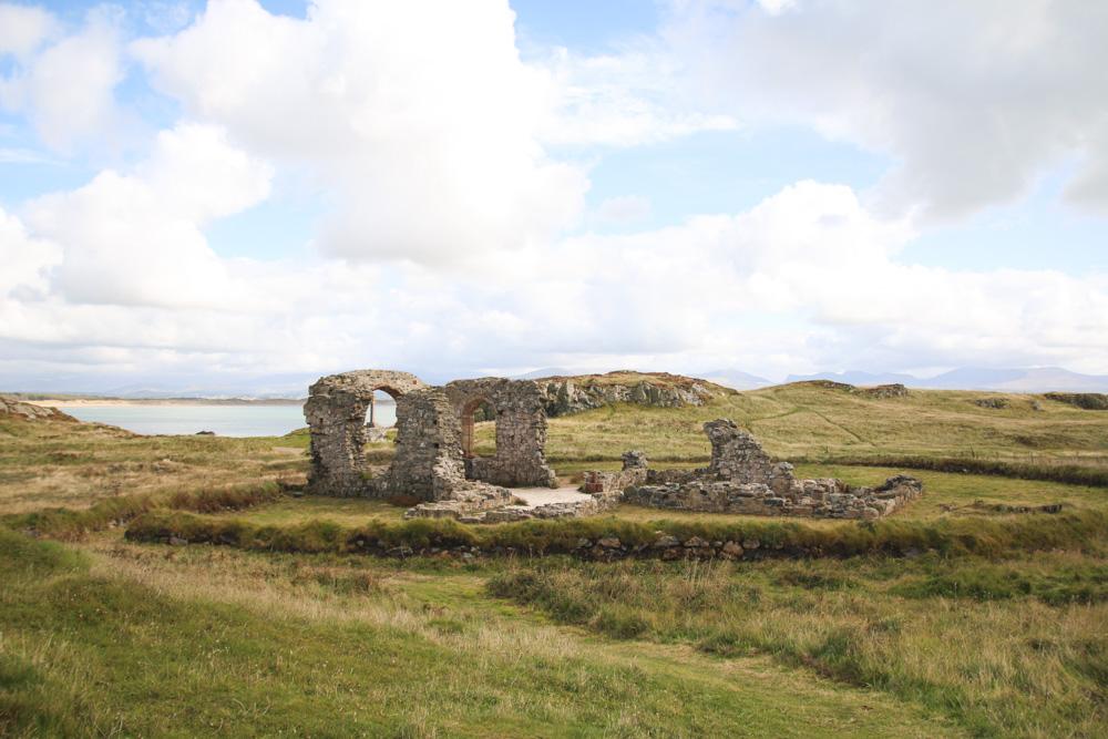 The church of St. Dwynwen, Llanddwyn Island, Anglesey