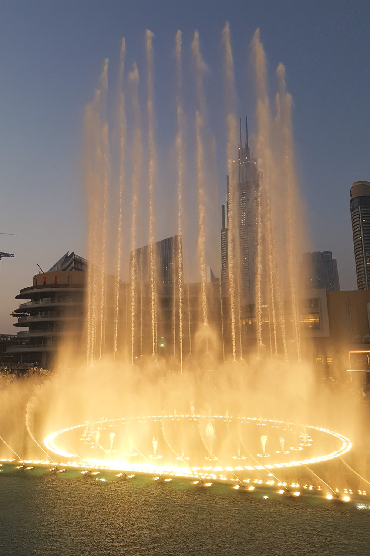 Dubai Fountain at Sunset