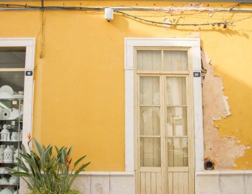 Old Doors in Tavira, The Algarve in Portugal