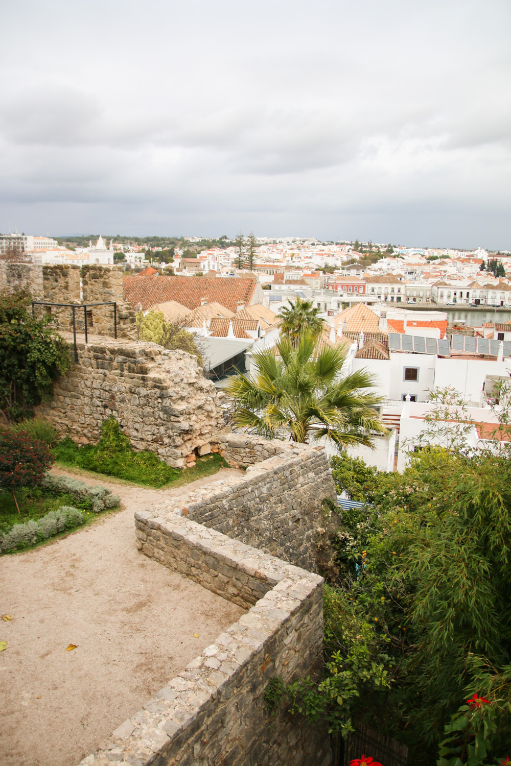 Views over Tavira from Tavira Castle, Portugal