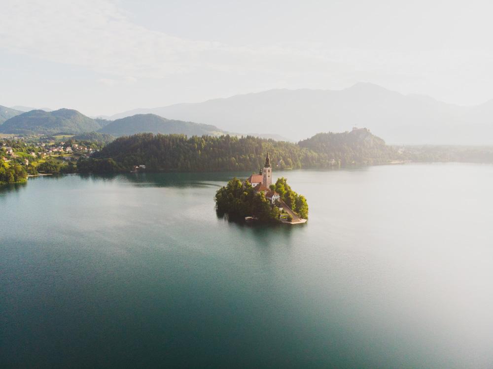 Lake Bled Drone Photo, Slovenia
