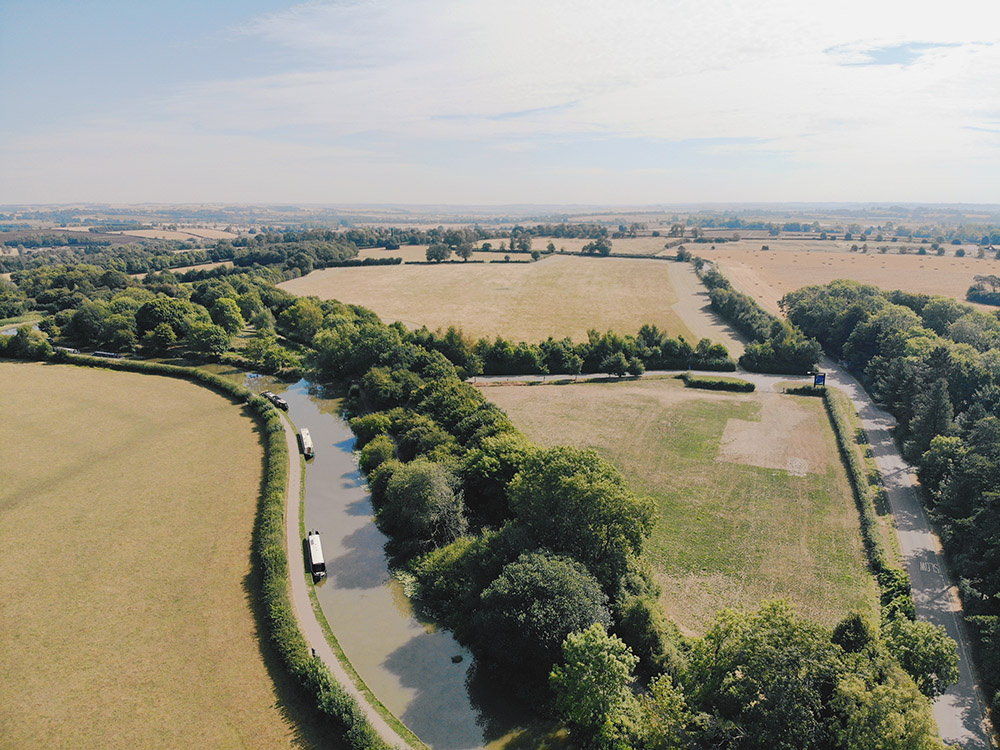 Foxton Locks from above