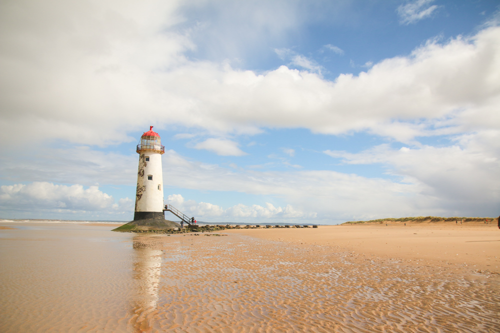 Point of Ayr Lighthouse at Talacre, North Wales