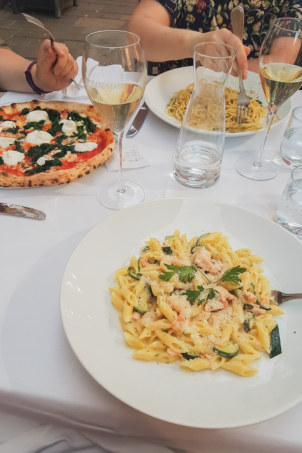 Pizza and Pasta in Trento Italy