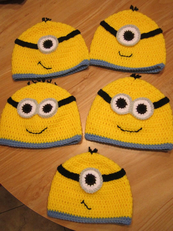 Crochet Despicable Me Minion Hats Custom Pattern April Fiet