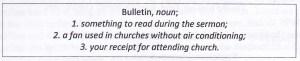 Holy Humor Bulletin Funny 1