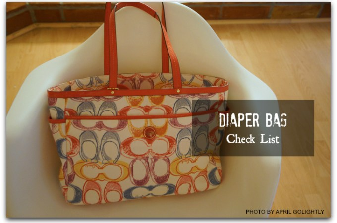 Diaper Bag Checklist