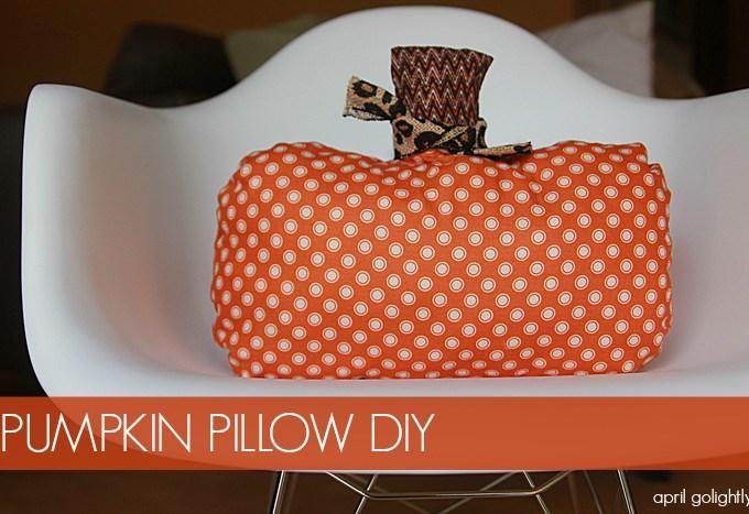 Pumpkin Pillow DIY