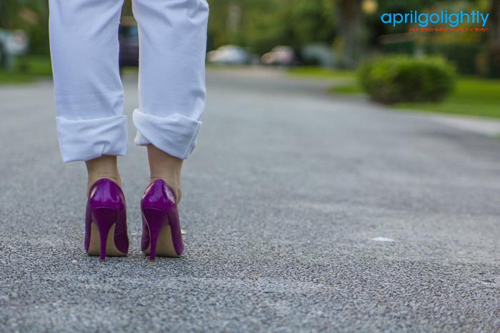 Neon Purple Pumps