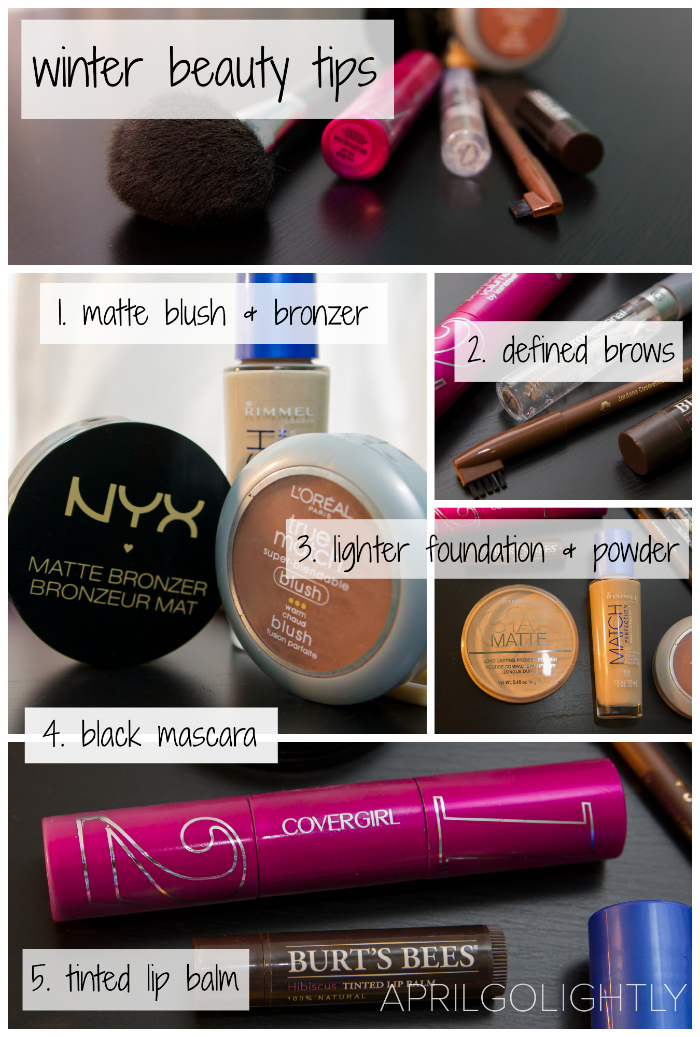 Winter Daytime Makeup Tips from the Drugstore look fabulous on a budget all winter long with this makeup tutorial with brows and bronzer