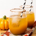 Pumpkin Spice Fizz Cocktail