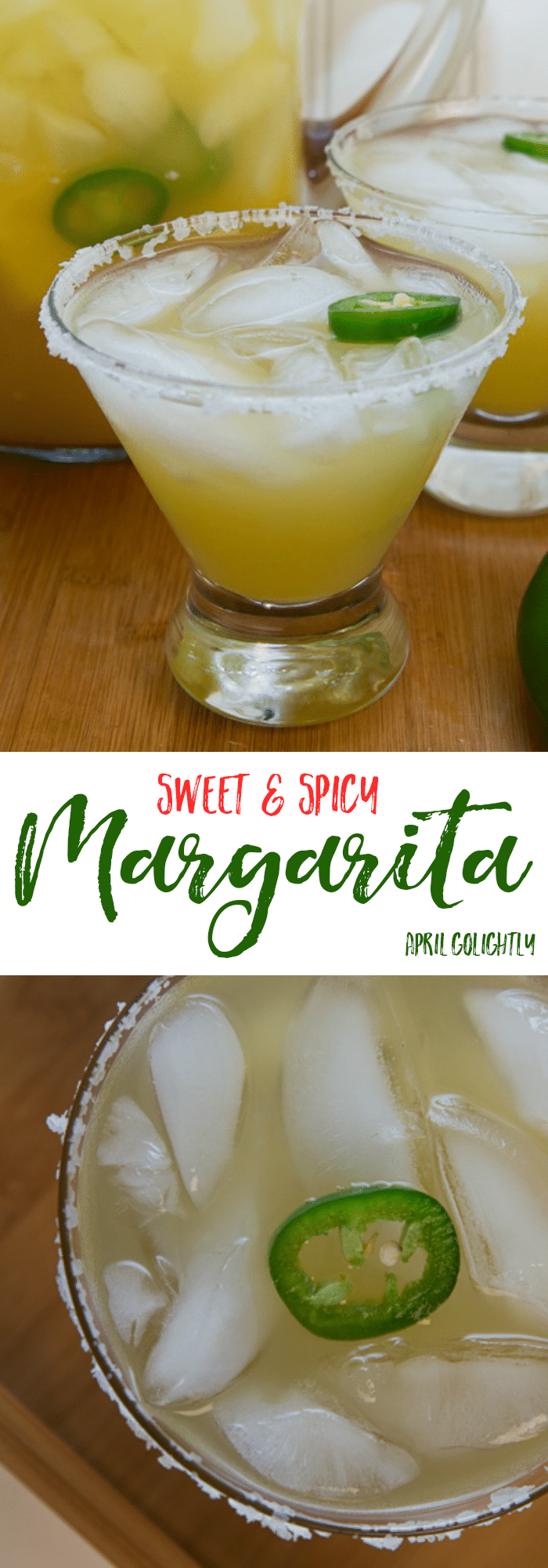 Sweet and Spicy Margarita Recipe that is skinny and made on the rocks or frozen in a pitcher to be served at a party