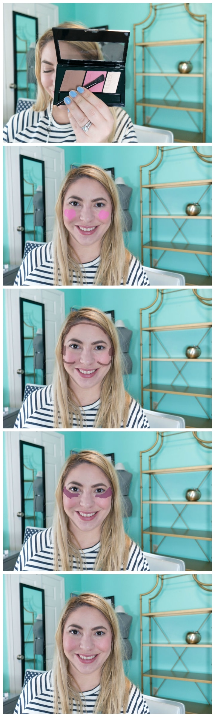Easy Face Contouring Tutorial by Beauty Blogger April Golightly
