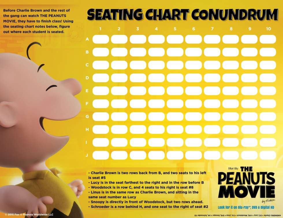 Peanuts Movie Activity Sheets