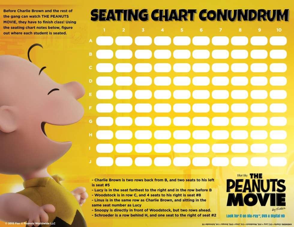 Peanuts Movie Activity Sheets