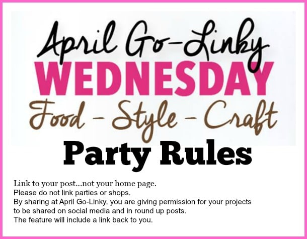 Here are the short and sweet rules for April Go-Linky Party