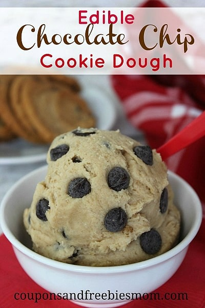 Edible Chocolate Chip Cookie Dough from Coupons and Freebies Mom