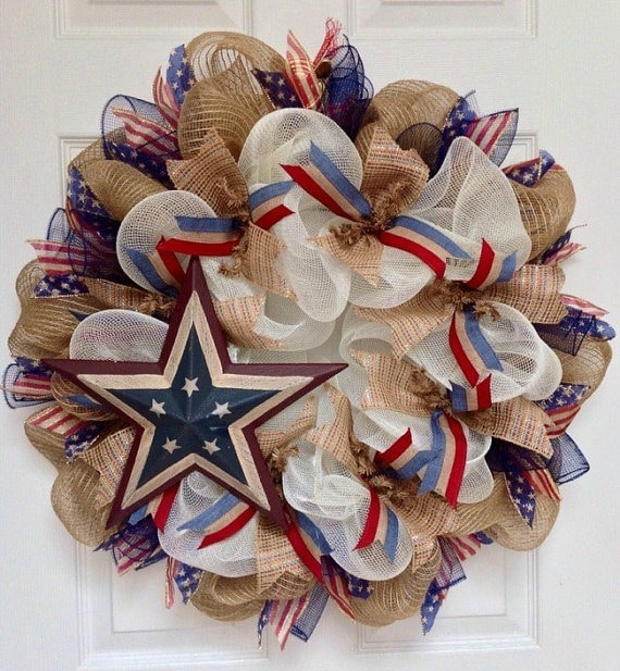 Memorial Day from How to Make a Burlap Wreath