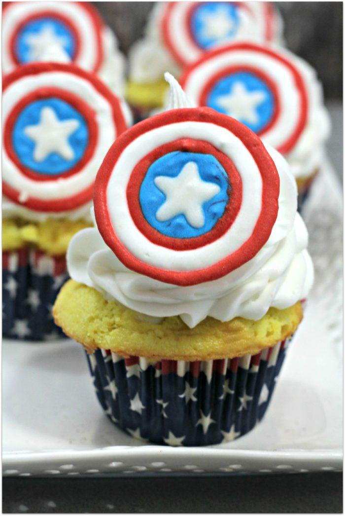 Captain America Patriotic Shield Cupcakes Recipe