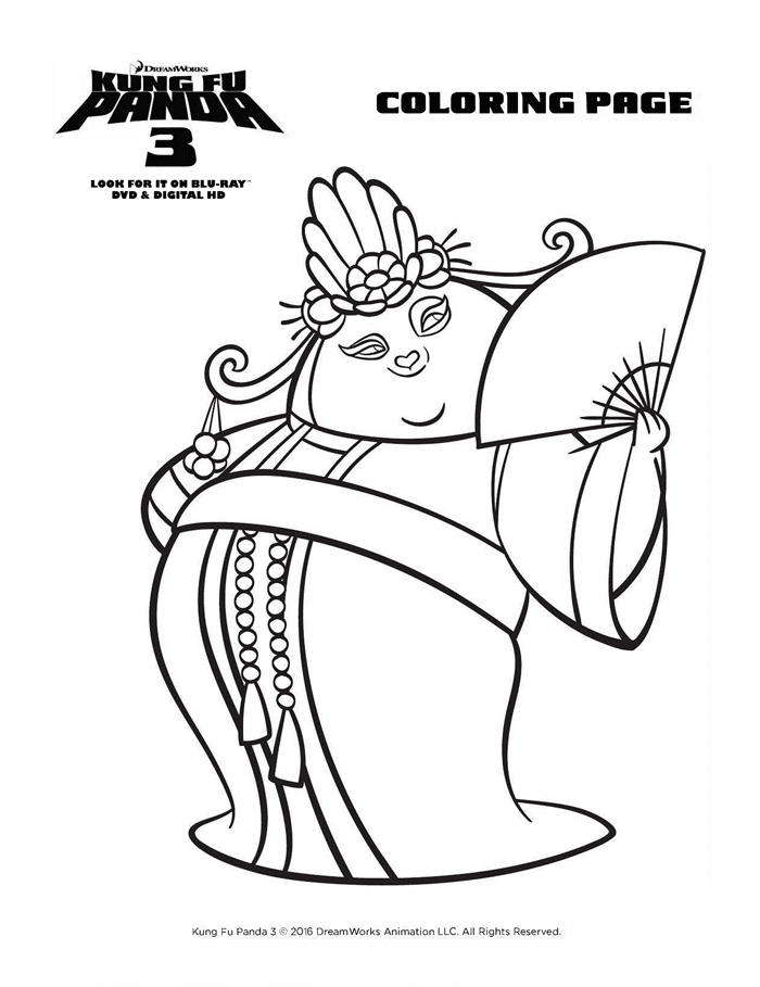 Kung Fu Panda 3 Coloring Sheets Free Printables Mei Mei