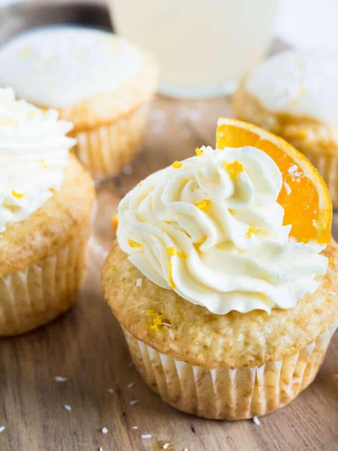Orange Coconut Creamsicle Cupcakes recipe
