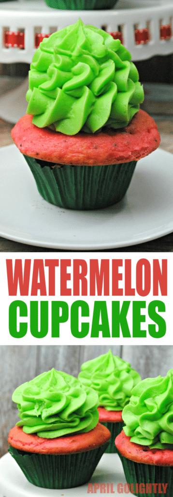 Watermelon Cupcakes Recipe - April Golightly