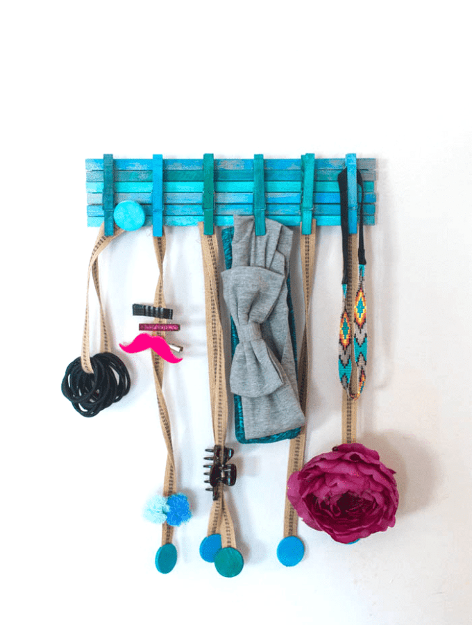 Hair Accessories DIY Organizer