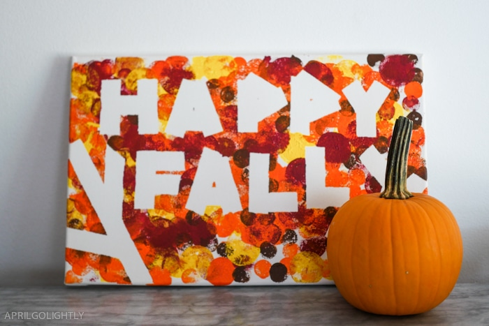 Happy Fall DIY Painting