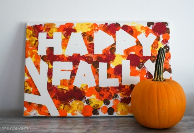 Happy Fall DIY Painting