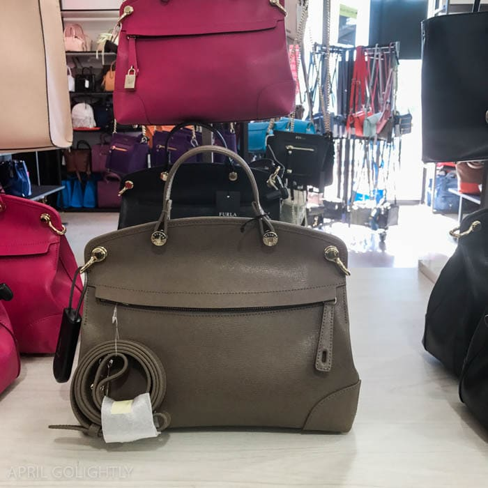 Grey furla bag