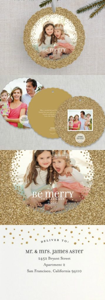 christmas ornaments family personalized holiday cards to hang on the tree