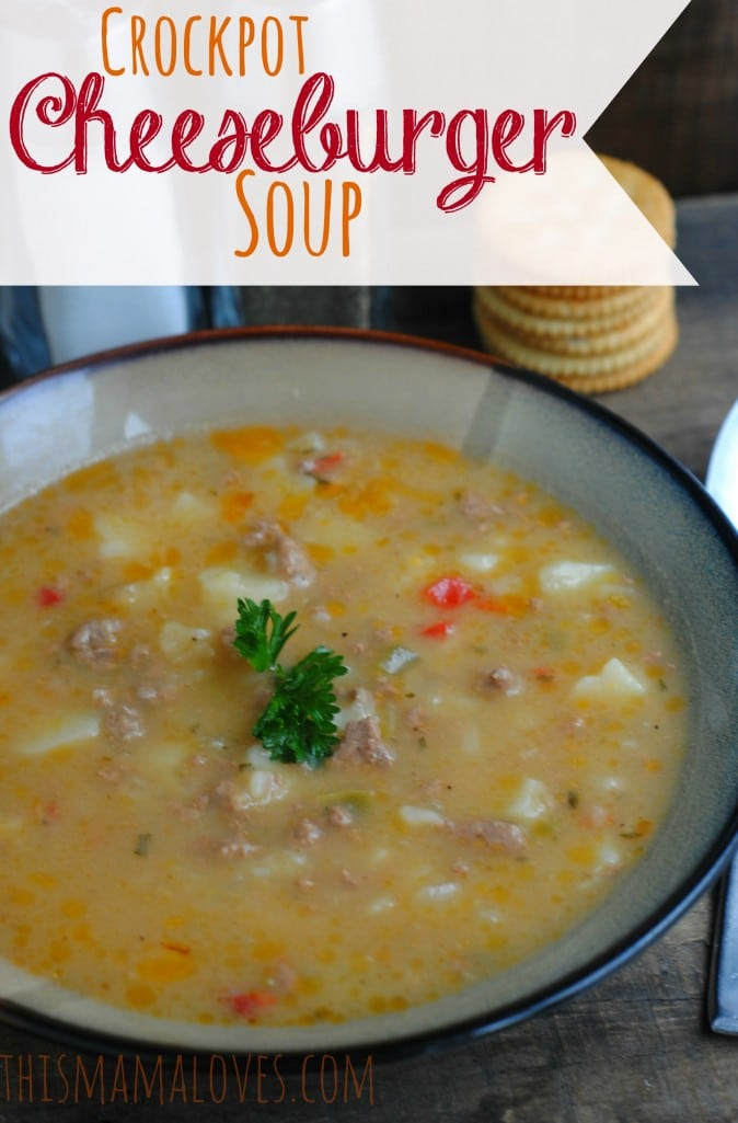Crockpot Cheeseburger Soup Recipe