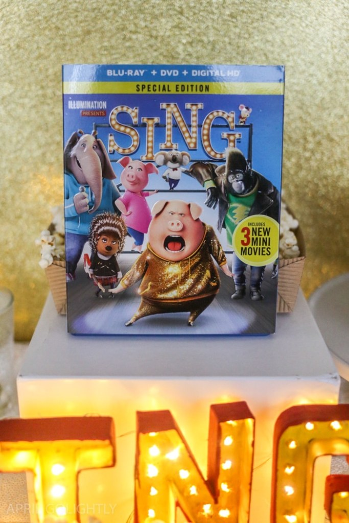 SING Family Movie Night and Light Up Sign DIY Tutorial