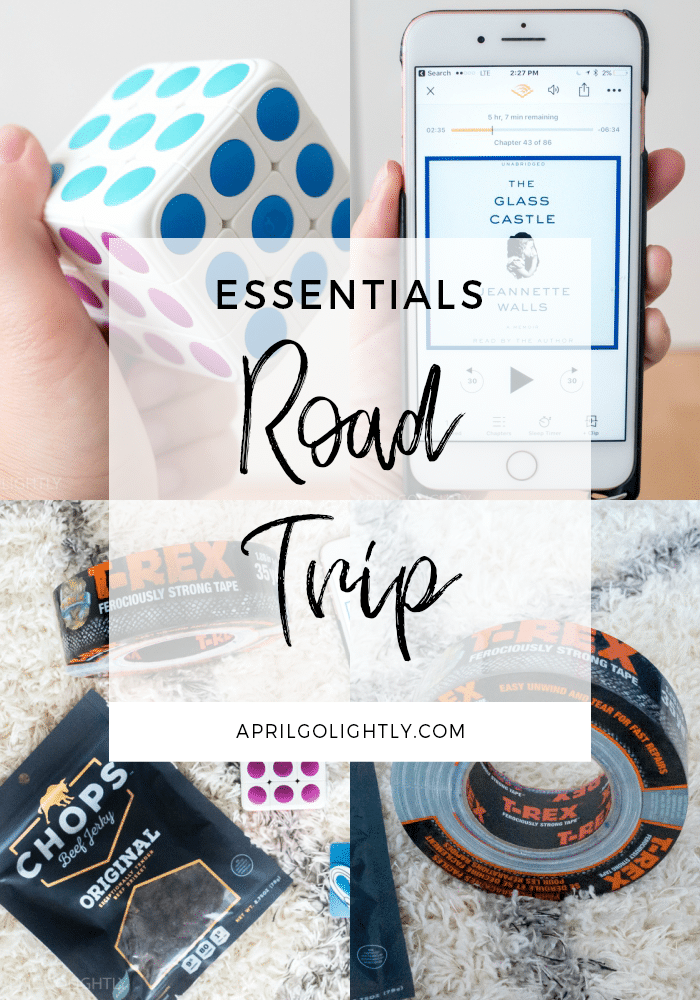 Go to Road Trip Essentials for Adult & Kids to keep you from getting bored, hungry or dehydrated during your travels with Audible and more