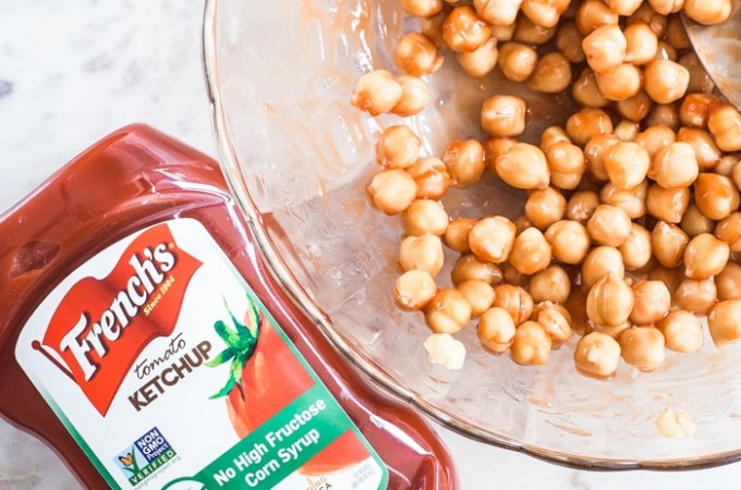 Easy Roasted Chickpeas with Ketchup
