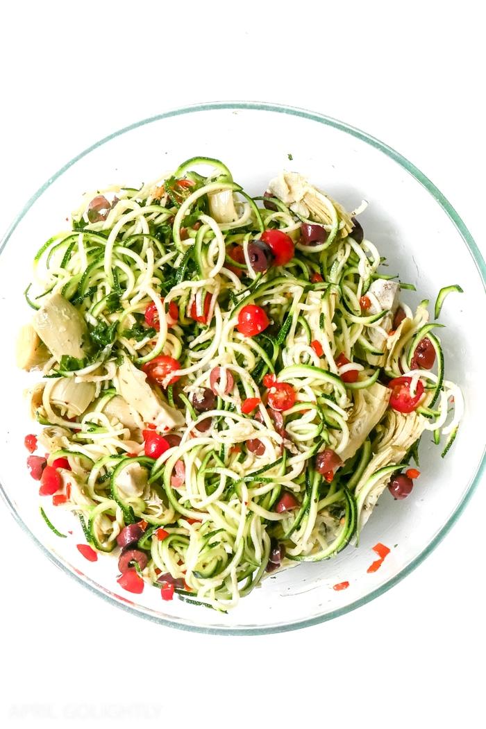 Mediterranean Zucchini Pasta Noodles