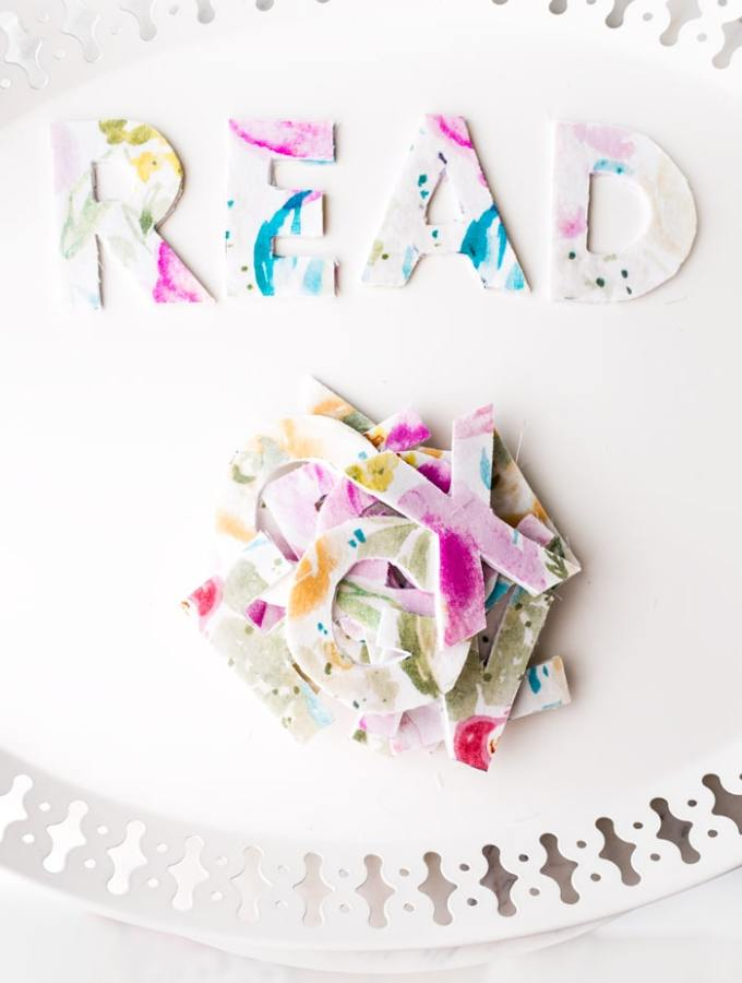 How to Make Fabric Letters & Teach a Child to Read