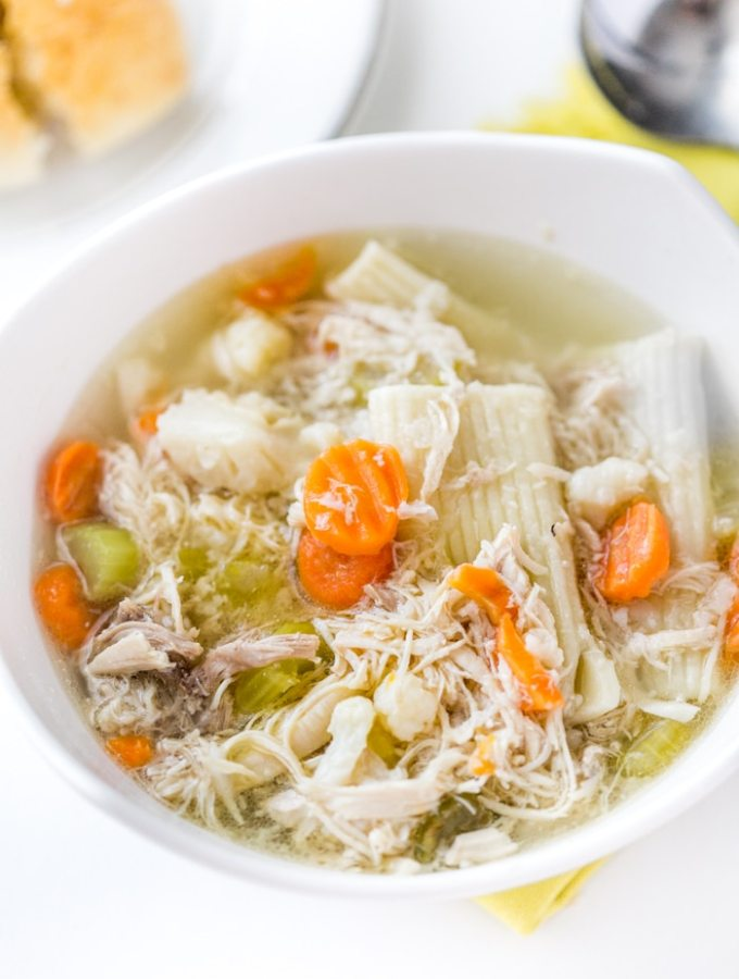 Instant Pot Chicken Soup Recipe with Whole Chicken