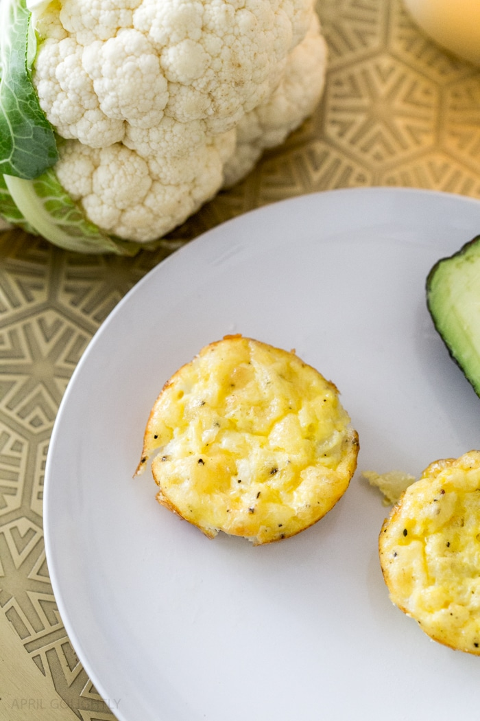 Low Carb Egg Muffins with Cauliflower