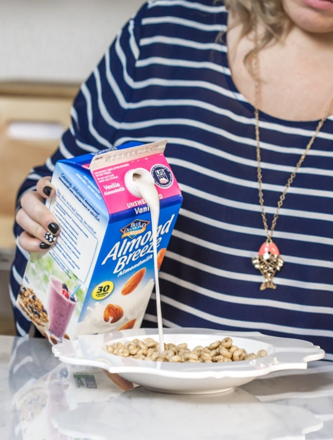 Almond Milk Breakfast with Honey Nut Cheerios