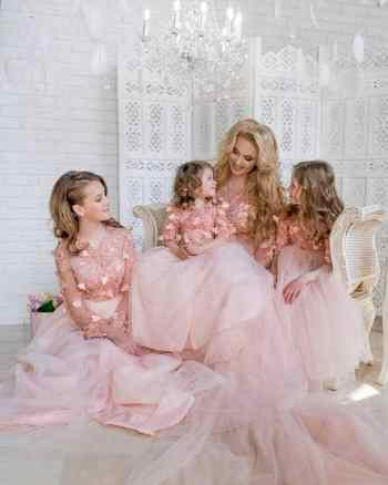 Mommy and Daughters matching formal dresses