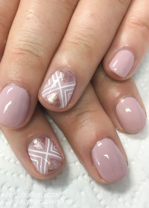 Blush Rose Gold Nail Designs 1 Of 1 April Golightly