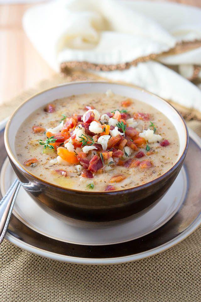 Cauliflower Pancetta Soup