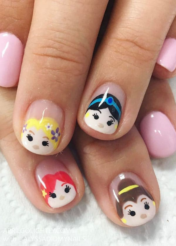 Disney Princess Tsum Tsum Nail art