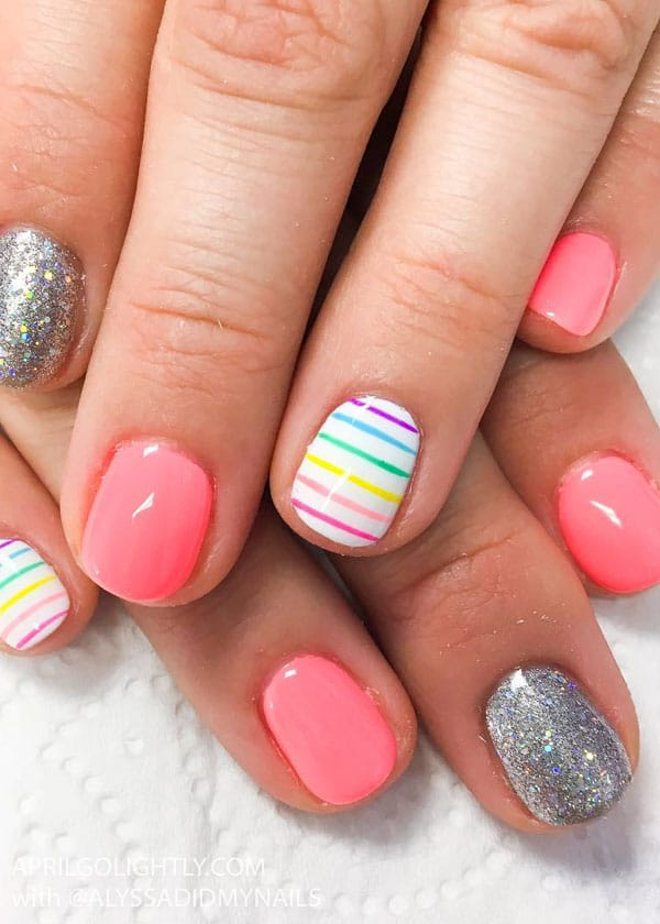Rainbow Nail Designs for summer