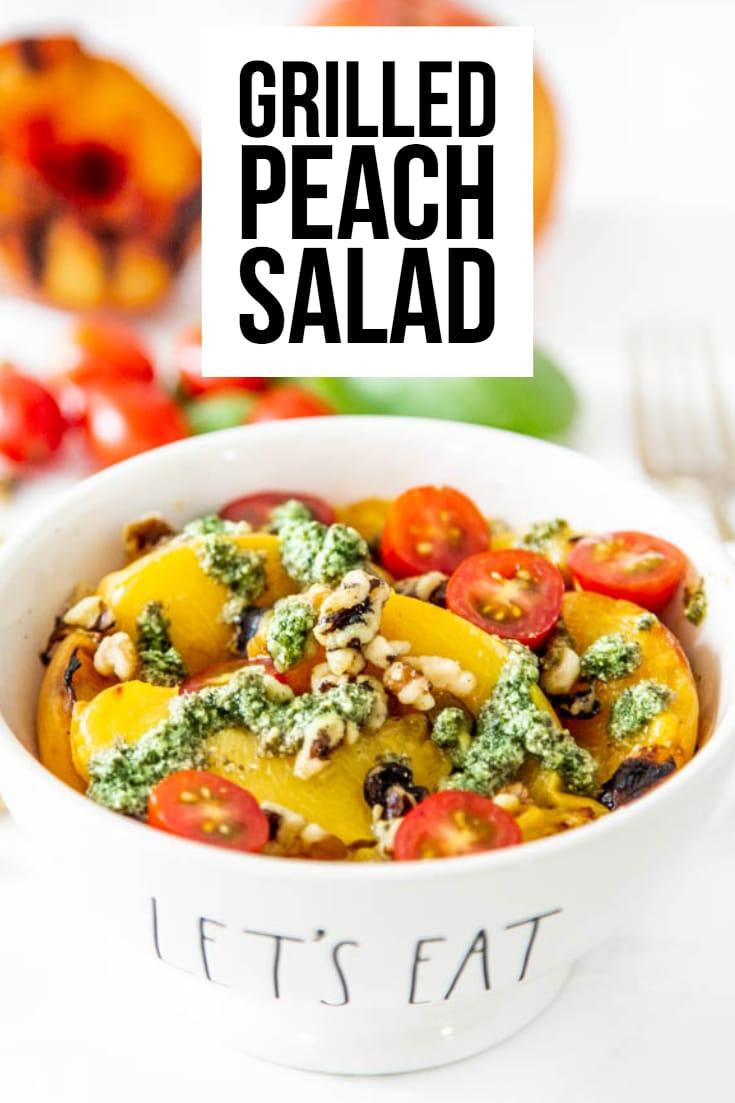 Grilled Peach Salad - Whole30 & Paleo Recipe