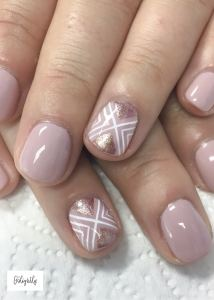 Rose Gold Nails With Blush For Fall Nails April Golightly