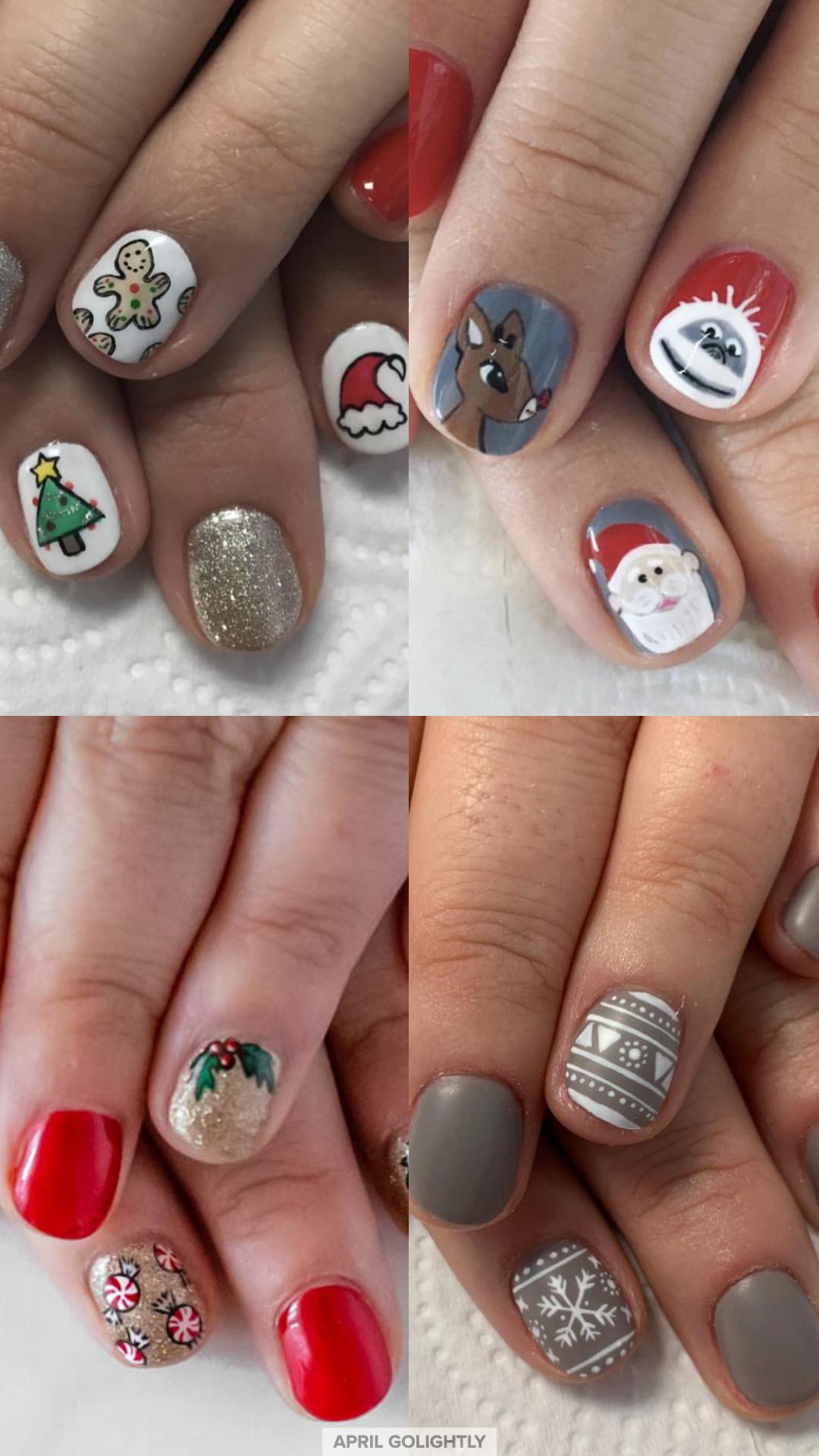 10 Christmas Nail Art Designs