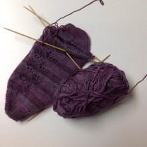 Socks, yarn and needles