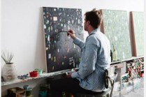 wall space as easel